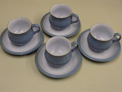 4 x Denby Cup & Saucer Coloroll Colonial Blue??
