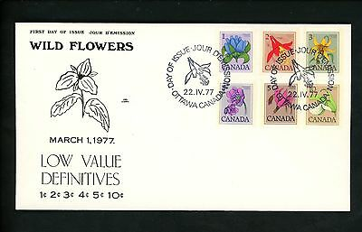 Postal History Canada NR Covers FDC #705-711 Wild Flowers 1977
