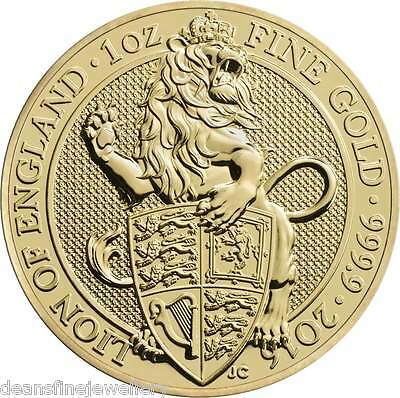 2016 1oz Gold The Queens Beasts - The Lion 999.9 £100 Coin