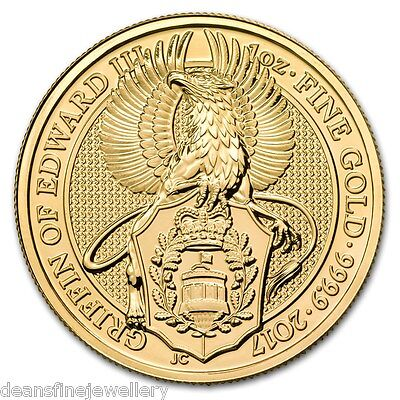 2017 1oz Gold The Queens Beasts - The Griffin 999.9 £100 Coin