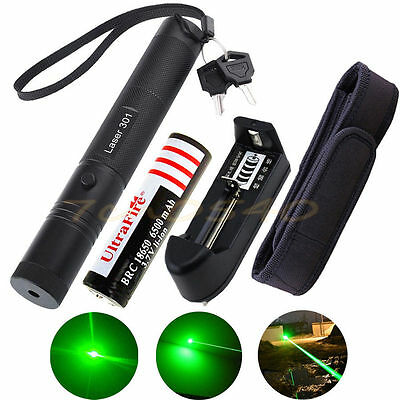 10 Miles Green 5mw Laser Pointer Pen 532nm Burning Light Beam Zoom Lazer Battery
