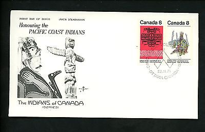 Postal History Canada Rose Craft FDC #573a Pacific Coast Indians Natives 1974