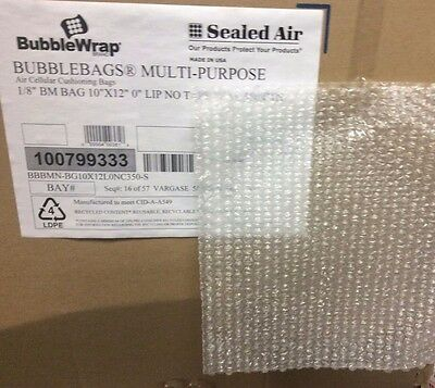 100 -Sealed Air 10 x 12  Bubble Out Pouches Bag Wrap Cushioning,Made in U.S.A