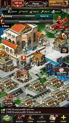Game of War account 8.2Trillion Power