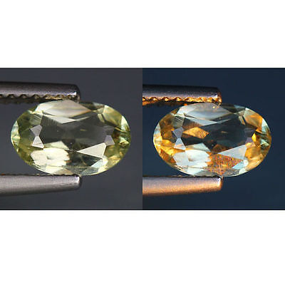 1.12 Cts_World Class Rarest Gemstone_100 % Natural Color Change Diaspore_Turkey