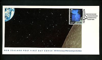 Postal History New Zealand FDC #1225 Space lunar moon landing anniversary 1994