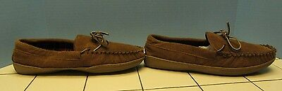 MOUNTAIN Creek SUEDE LEATHER Mens Moccasins slippers size 11 rubber soles