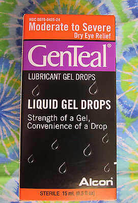 Genteal Moderate To Severe Dry Eye Gel Drops 0.5 fl oz. 12/2016  READ EXPIRED!!!