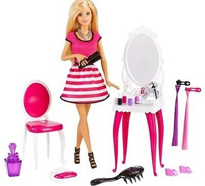Barbie Doll Glitz And Glam Style Playset