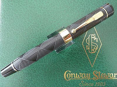 Conway Stewart Churchill Ebonite Limited Edition Fountain Pen Mint & Boxed Nib=B