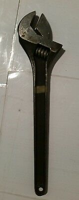 """CRESCENT BRAND 15"""" 380MM CRESTOLOY MADE IN USA BLACK FINISH Adjustable WRENCH"""