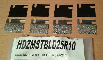 Diamabrush Mastic Concrete Coating Removal Tool Blades 25 Grit - 4 Blades