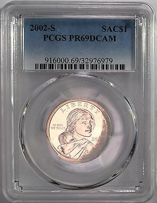 2002-S Sacagawea Dollar $1 PCGS PR69 DCAM Unique Dark Color Toned Gem