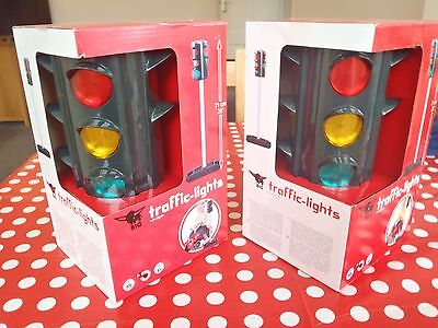 2 x  BIG Traffic Lights Children's Pretend Role Play Toys NEW