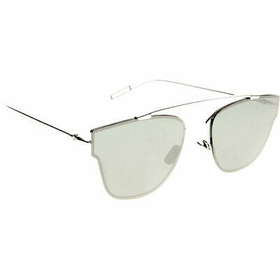 6d9a2c34f0ee New Dior Homme 0204 S 010 T4 Palladium Metal Sunglasses Black Mirror Lens