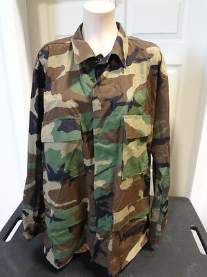 US ARMY Woodland Camo Combat Shirt - MEDIUM - x1