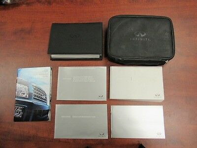 2009 Infiniti QX56 User Manual Set Complete with Leather Case