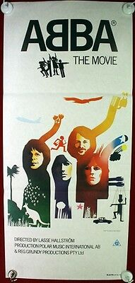 Vintage Original ABBA the Movie 1977 Australian Daybill Poster!