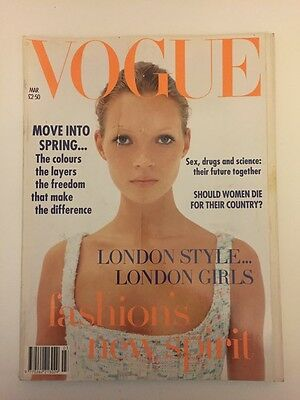 RARE Vogue 1993 Kate Moss first cover by Corinne Day