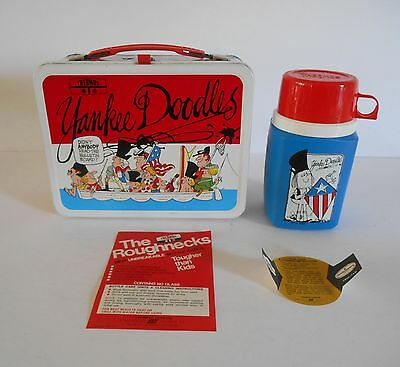 1975 Vintage Yankee Doodles Lunchbox Thermos Nr Mint Unused Tags Wow !!!