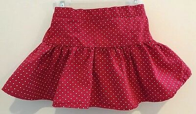 Gymboree 12-18M Girl's Red With White Polka Dots Skirted Brief 100% Cotton