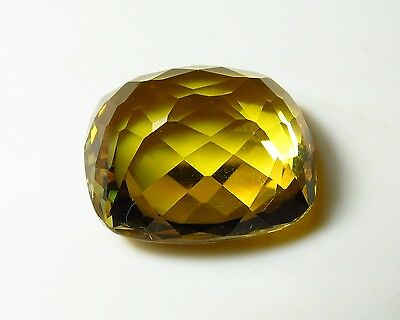 22x17mm DEEP GOLD YELLOW CITRINE faceted CUSHION CUT LOOSE gem