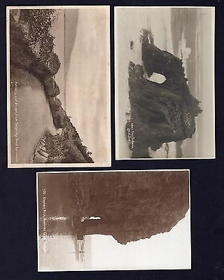 Great Britain 3x unused black and white postcards see scans x2