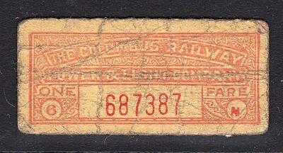 USA OHIO ? very old railway ticket ?see scans x2
