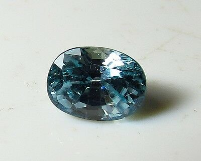 7x5mm NATURAL BLUE ZIRCON faceted OVAL CUT LOOSE GEMSTONE