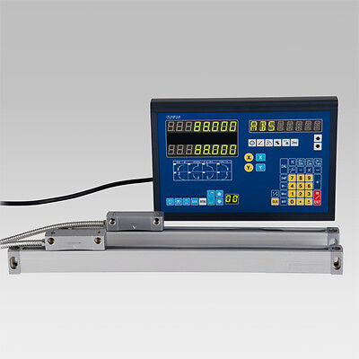 BiGa 2 AXIS DRO DIGITAL READOUT WITH 2 LINEAR SCALE FOR MILL LATHE MACHINE