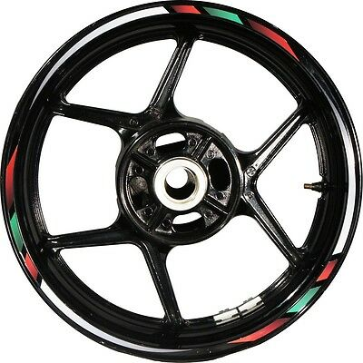 Rapid Cg 4c Red White Red Green Motorcycle Rim Tape Sticker For