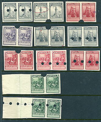 Scarce Lot of 11 Portugal Proof Pairs (Lot #b203)