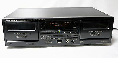 Pioneer CT-W616DR Double Cassette Deck Auto Reverse – Excellent  Condition