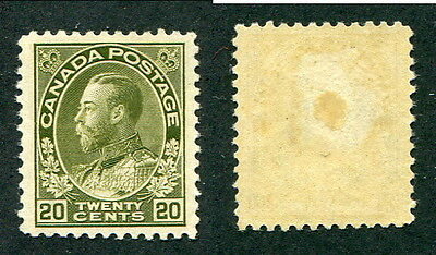 Mint Canada 20 Cent KGV Admiral Stamp #119 (Lot #9200)