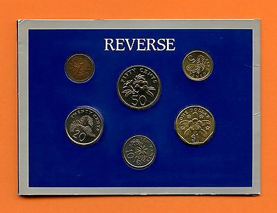 Singapore 1990 Year of Horse UNC 6 Coins Set