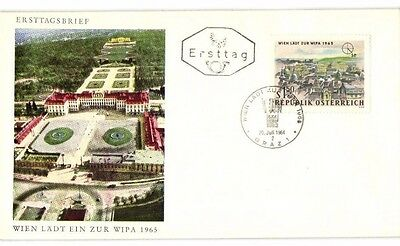 LOT OF 6 AUSTRIA CACHETED FDCs FROM 1964