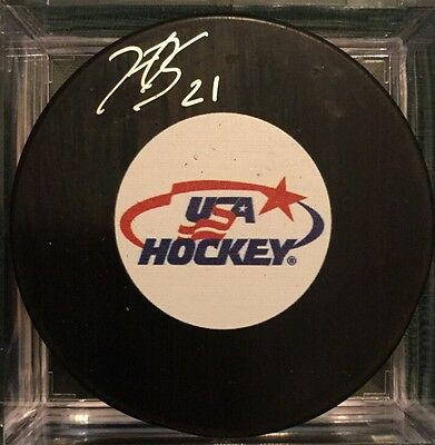 Hilary Knight Signed USA Hockey Puck Autograph Wisconsin Badgers