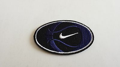 Nike Black/purple And White Oval Patch