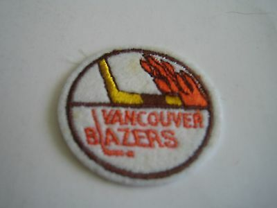 Vintage Defunct Wha Vancouver Blazers 2'' Patch***world Hockey Association***