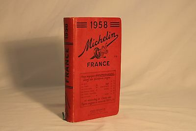 1958 Michelin Travel Guide Book - Vintage French France Paris Map