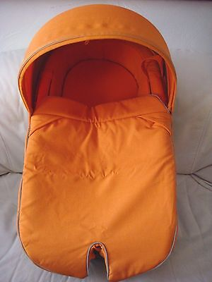 Stokke Xplory hard carry cot bassinet solid orange with mattress hood & apron