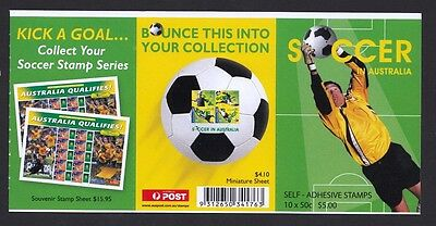 2006 Australian Stamps -Soccer - P&S Booklet - MNH 10 x 50c Stamps