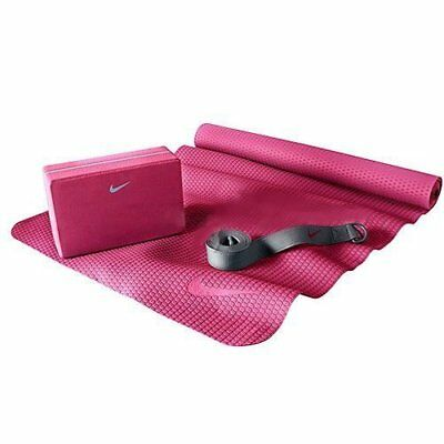 NIKE Essential Yoga Kit Include Yoga Mat / Block / Strap , Pink