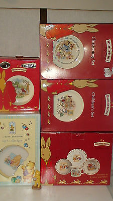 2Of3]  30  Piece Royal Doulton  Bunnykins & Winnie The Pooh  Lot New In Box