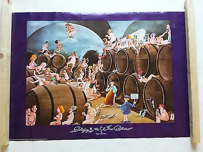 Swinging In The Wine Cellar Poster Large Vintage Roger Blachon Was Unopened Rare