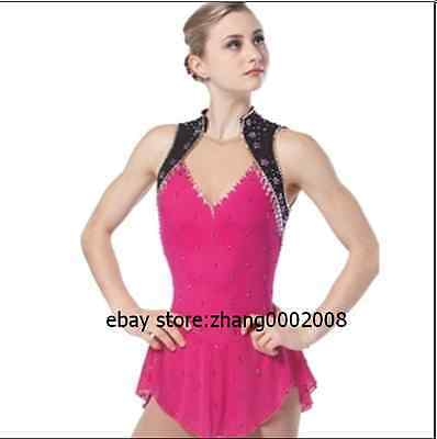 Ice skating dress. pink Competition Figure Skating dress. Baton Twirling custom