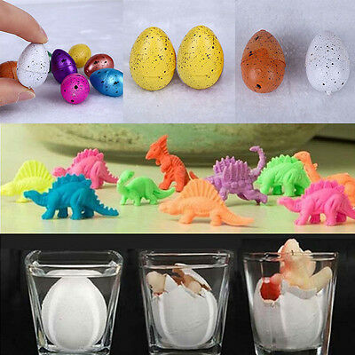 New Hatching Growing Dinosaur Egg Educational Incubate Expand Water Toys 10Pcs