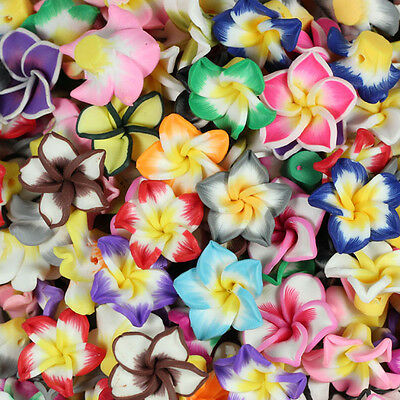 Wholesale! 15mm /20mm Mixed Polymer Fimo Clay Flower Spacer Loose Beads