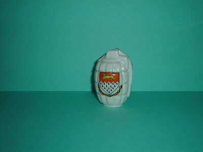 Crested China Model Of Mills Hand Grenade No. 334  'chichester'  Ex.cond.