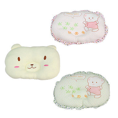 Velvet Baby Infant Newborn Pillow Anti-Flat Head Cushion Sleep Support Crib Cot
